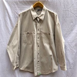 Quiksilver Snap Front Twill Long Sleeve Mens Shirt